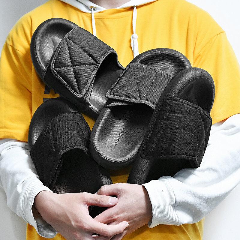 B60拖鞋男潮2020新款室外夏季潮流男士气垫运动凉拖外穿沙滩一字