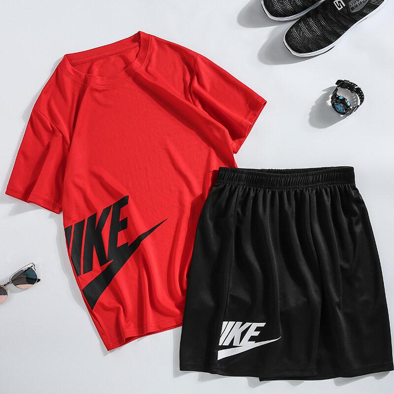 888运动套装男夏季健身短袖T恤男士速干衣服跑步宽松休闲运动服