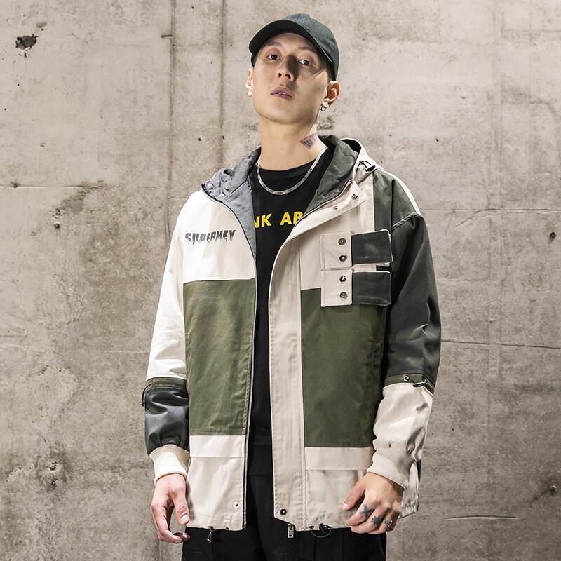 WSL-5872020春秋季时尚日系宽松外套男立体个性学生连帽夹克休闲外套