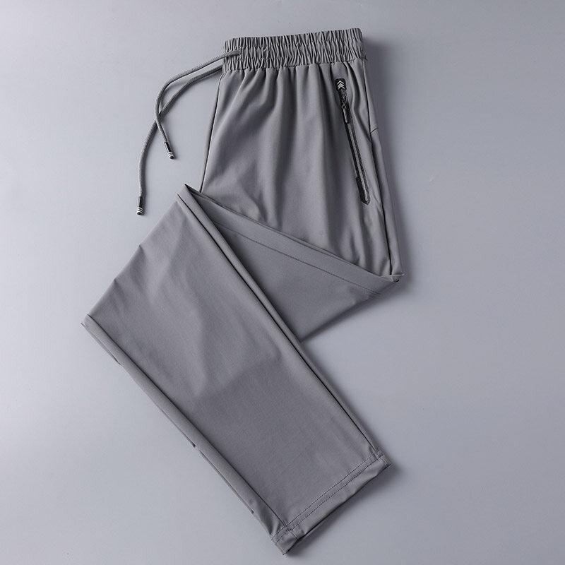 003速干裤男夏季薄款弹力透气宽松大码户外跑步运动  003