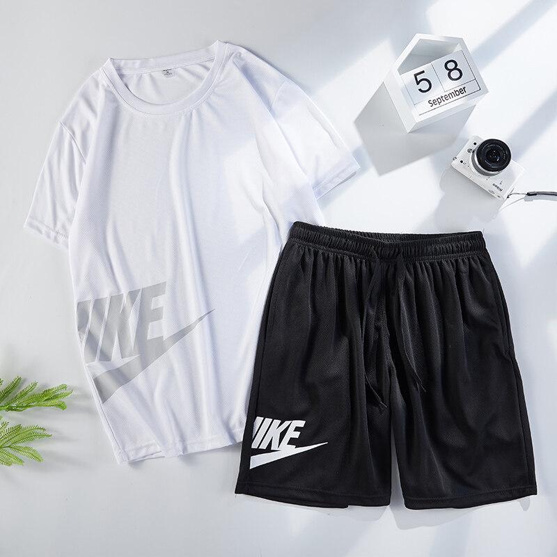 2809运动套装男休闲夏季短袖T恤  短裤男