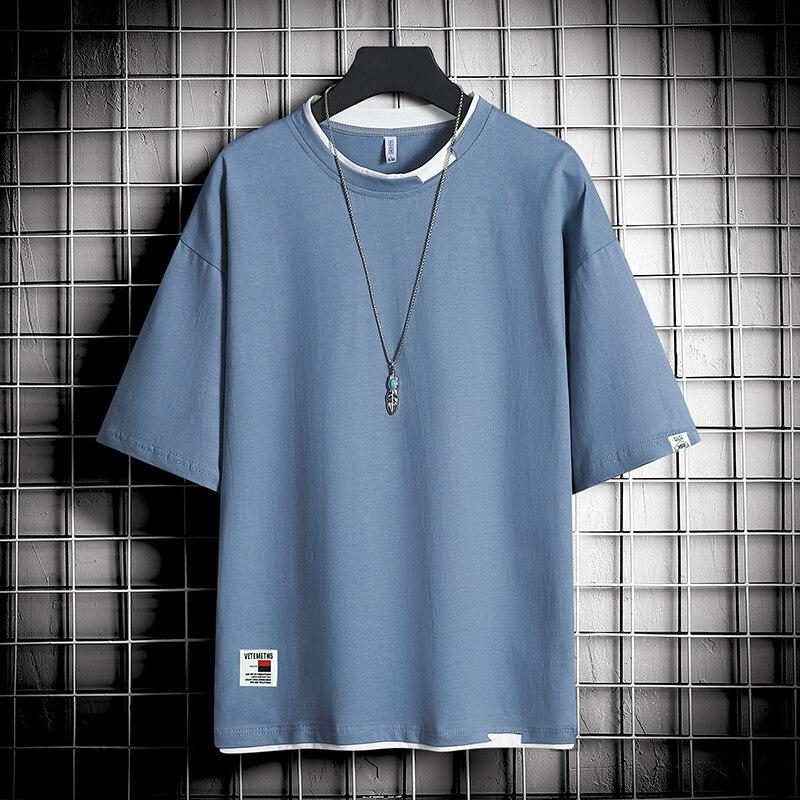 tc3052020夏季新款男仿棉短袖夏季新款潮流半袖体恤修身打底衫