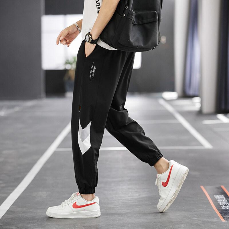 K-7512020夏季休闲裤男九分裤修身束脚九裤工装裤子薄款