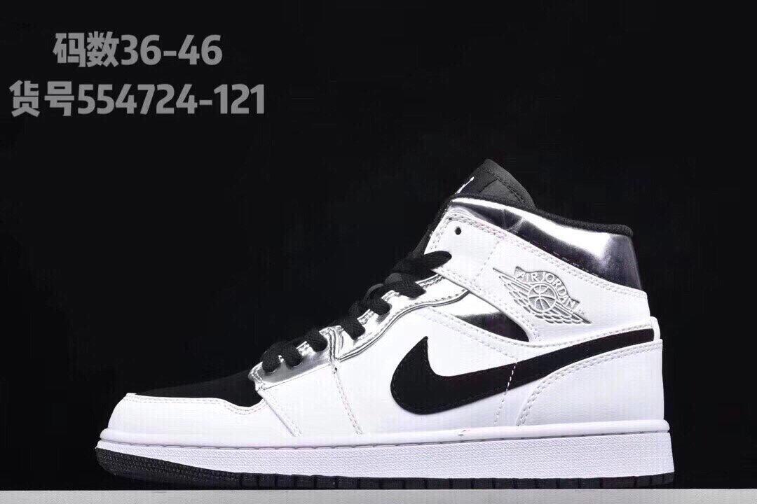 554724-121aj1 Mid 小伦纳德中帮黑白篮球鞋554724-121