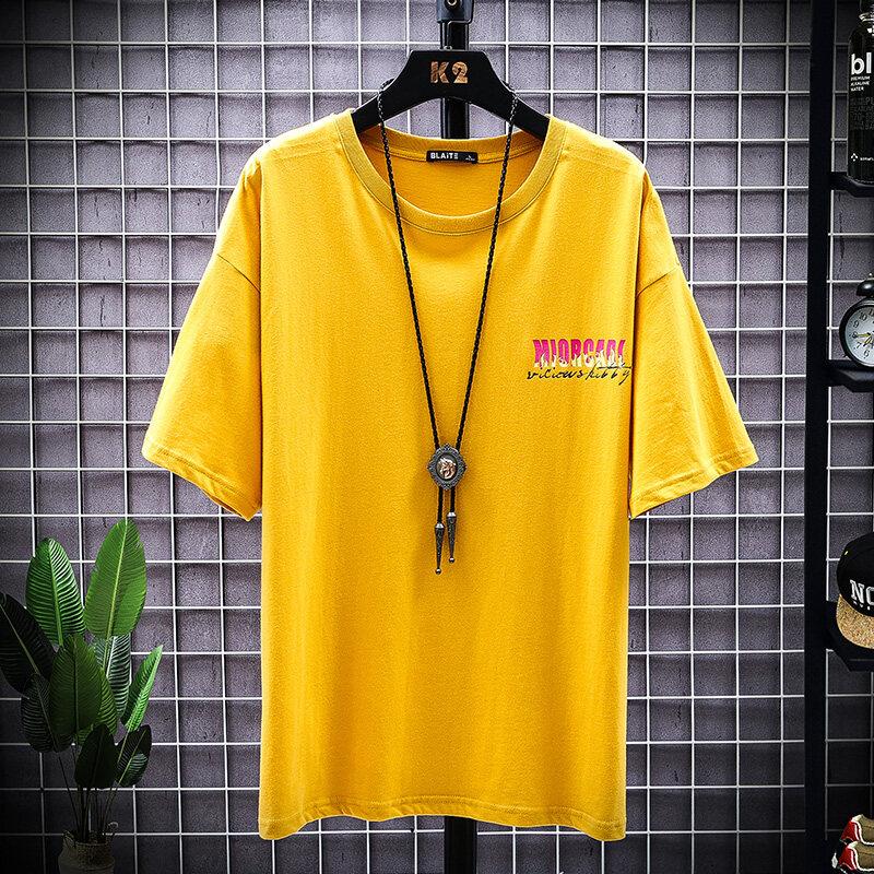 T2031款2020新款男士短袖t恤潮牌丅半袖体桖韩版潮流夏季男装宽松