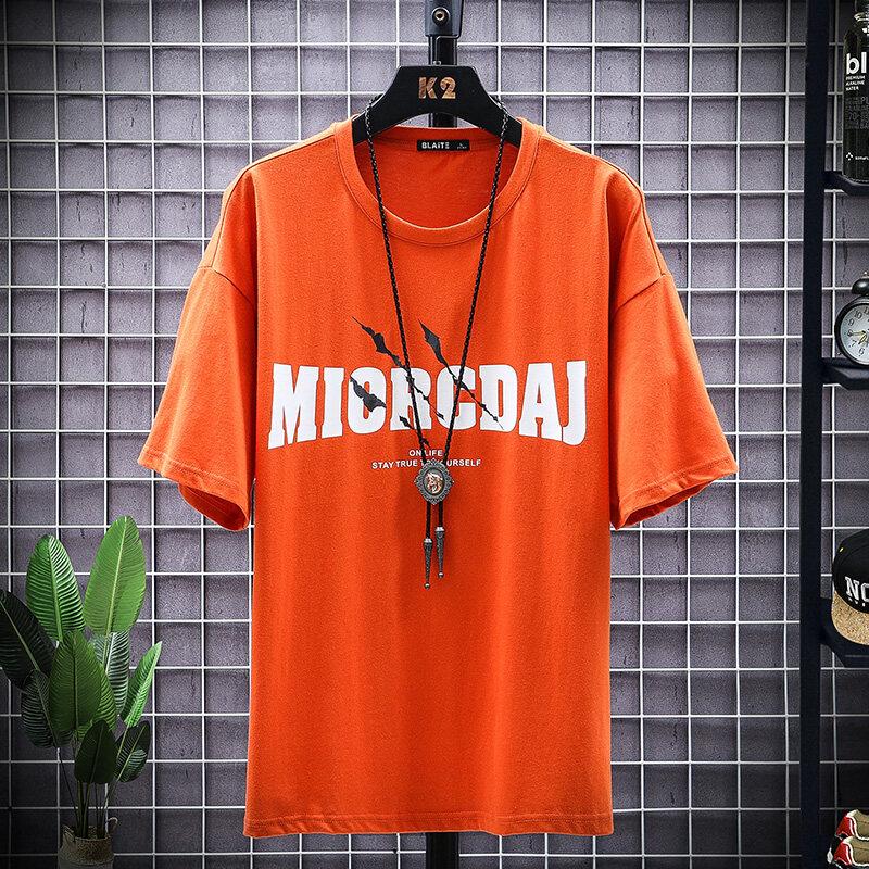 T2027款2020新款男士短袖t恤潮牌丅半袖体桖韩版潮流夏季男装宽松