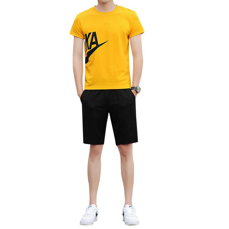 882-883-885-886-887新款蚂蚁皱套装圆领短袖T恤五分短裤