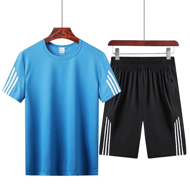T102男士短袖t恤套装宽松搭配夏季休闲