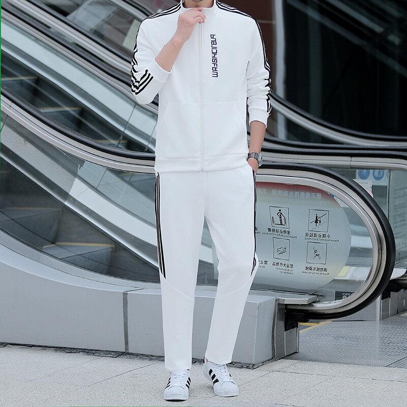 2020春款2020痞帅男套装两件套港风工装韩版休闲高端运动服男装
