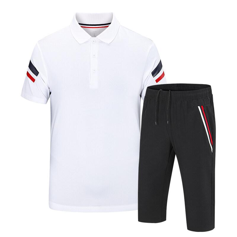 9211夏季T恤运动短袖套装男女团体有领速干半袖体育学生考试班服定制
