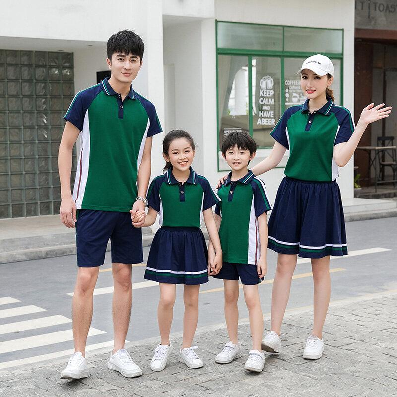 小学生校服夏季套装新款儿童班服短袖运动英伦老师幼儿园园服夏装