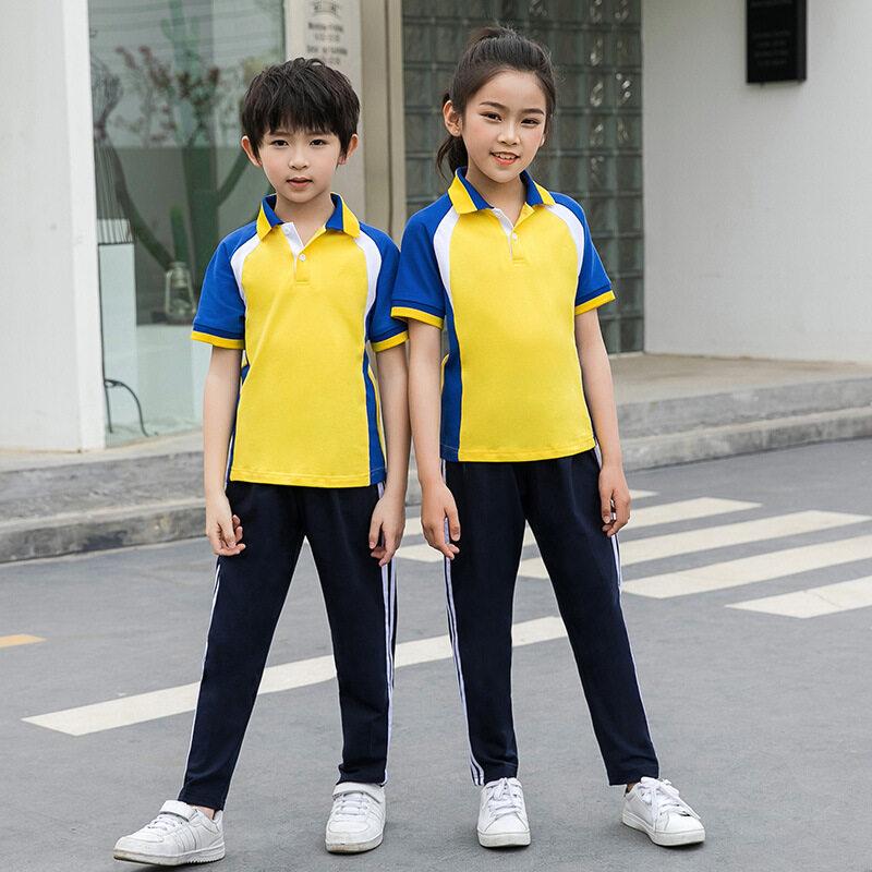 小学生校服夏装幼儿园园服短袖运动会套装儿童班服毕业照服定制