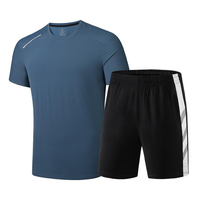 男士短裤套装夏季2020新款潮流薄款宽松外穿运动休闲五分沙滩