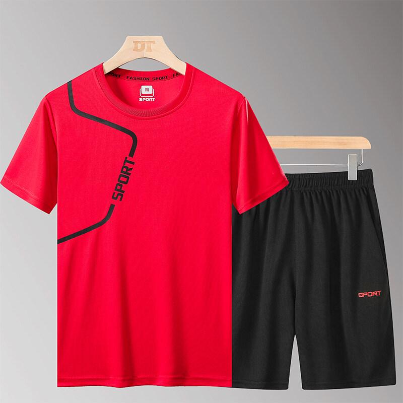 YTL21两件套2020新款夏季男款运动休闲两件套潮流时尚宽松套头厂家直销