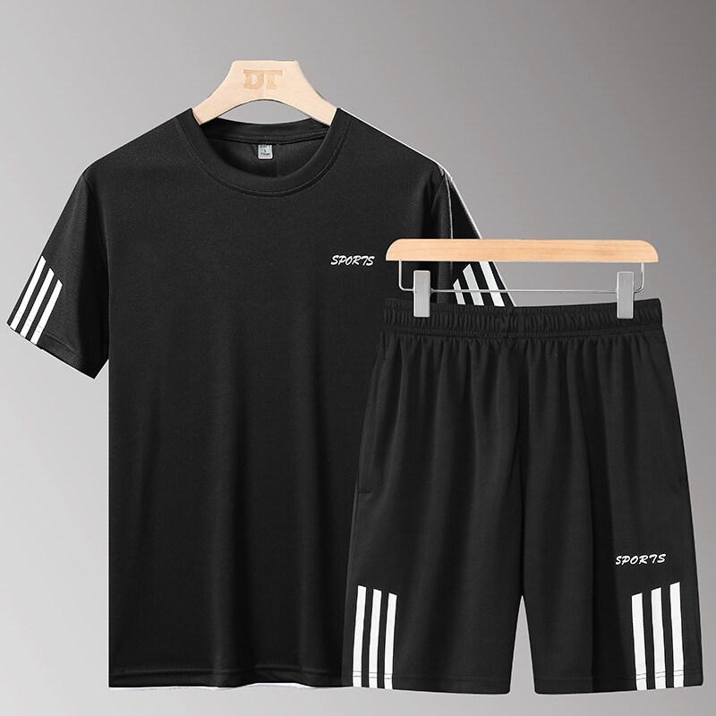 YTL22两件套2020新款夏季男款运动休闲两件套潮流时尚宽松套头厂家直销