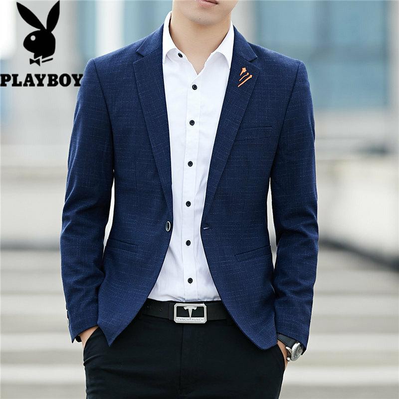 577232983029花花公子新款男士韩版休闲小西装修身男式春季西服爆款单西外套男