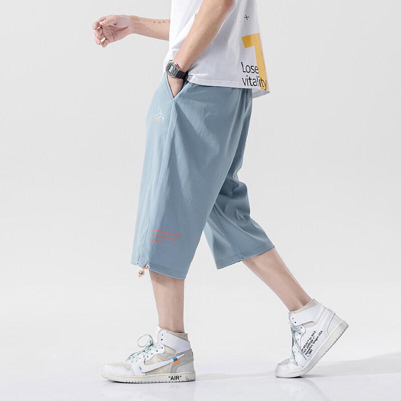 G-761男士短裤夏季2020新款宽松休闲运动七分裤男韩版潮流时尚裤子