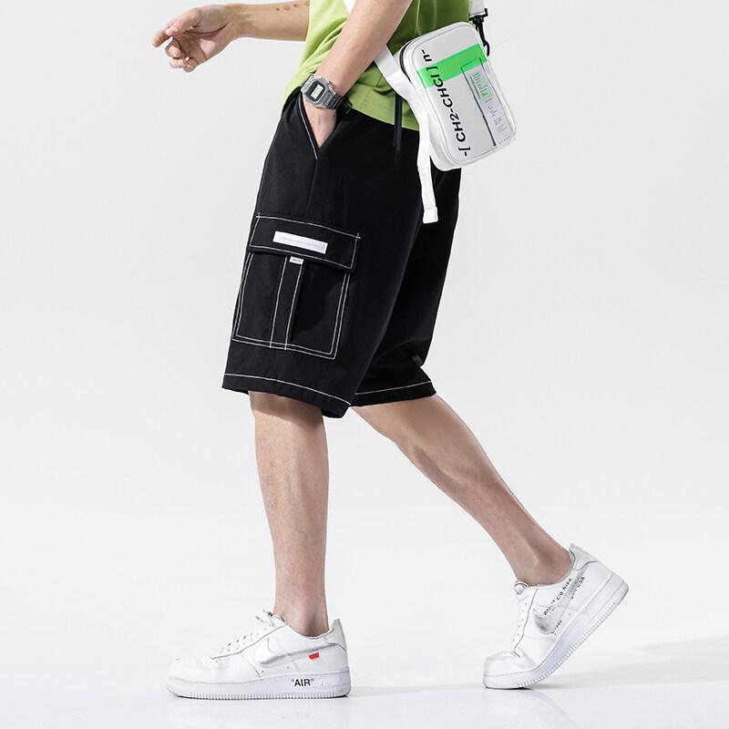 K-750短裤男士裤子外穿夏季薄款潮流牌迷彩宽松纯棉五分中裤休闲工装裤