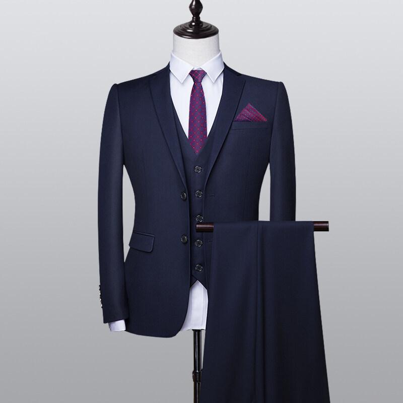 21西服套装男士职业伴郎韩版结婚商务正装外套修身休闲小西装男上班