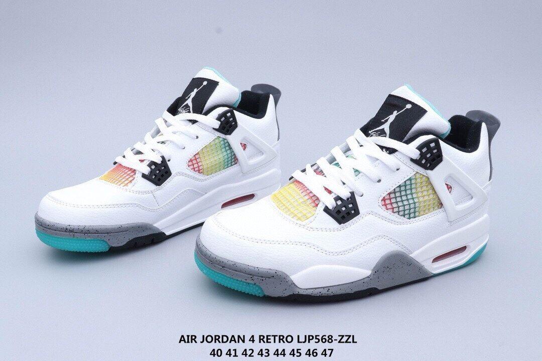 364原单真标高品质乔丹AJ4代中帮复古休闲运动文化篮球鞋