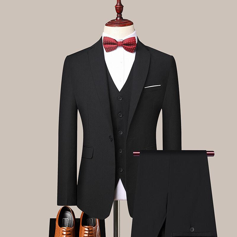 ZMN6221西服套装男士三件套韩版修身小西装商务休闲职业正装新郎结婚礼服