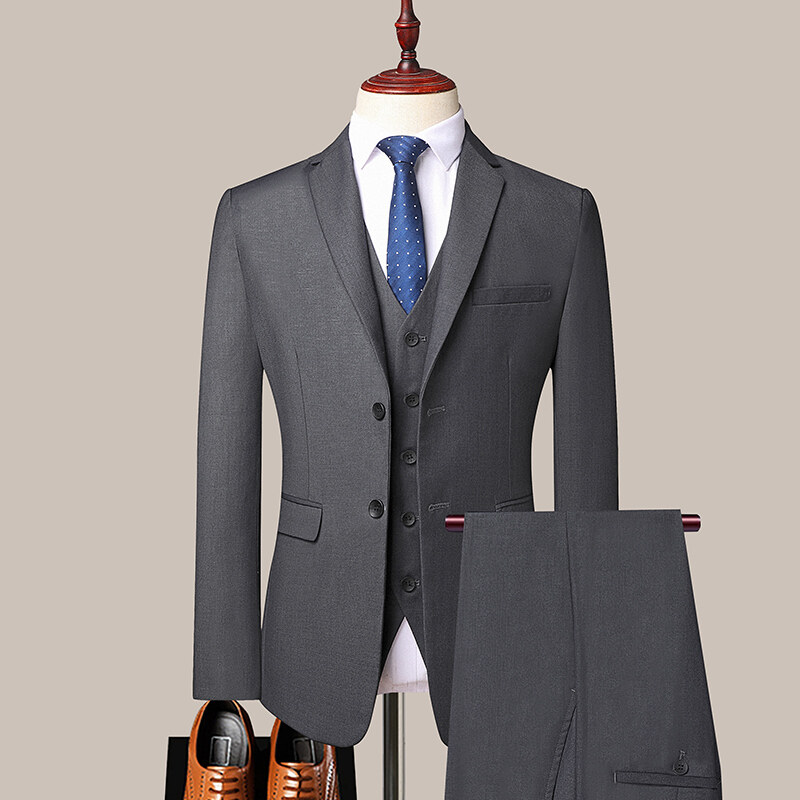 ZMN6220西服套装男士三件套商务修身职业正装西装伴郎服韩版新郎结婚礼服