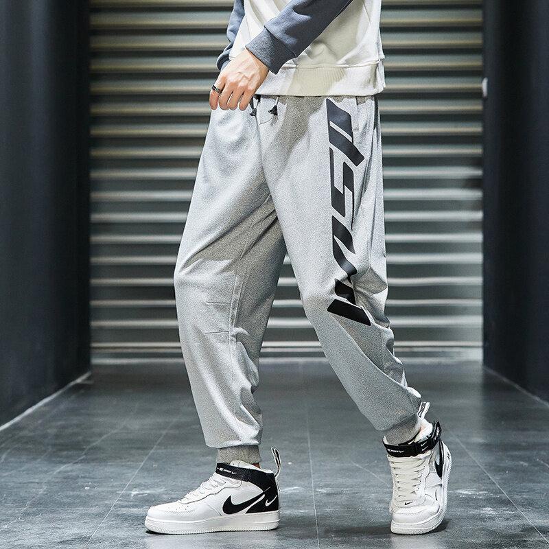 K7852020休闲裤男秋季新款裤子男装韩版潮流男裤哈伦裤工装裤男
