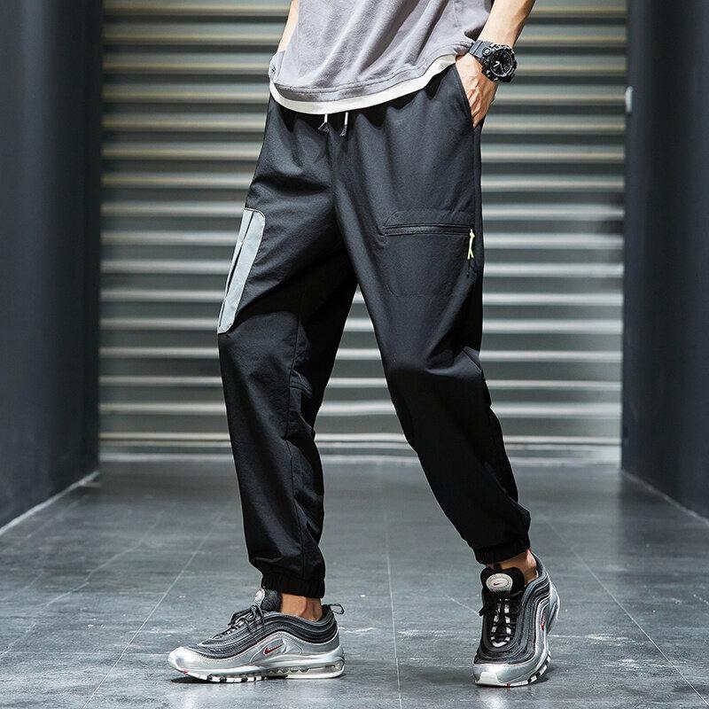 K793休闲裤男秋季宽松学生长裤新款束脚裤韩版休闲帅气百搭潮流九分裤