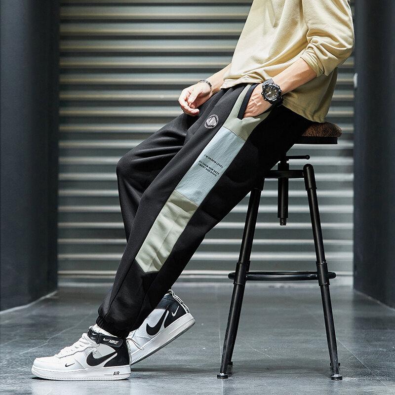 K7992020秋季休闲裤男小脚九分裤修身潮流束脚长裤男士裤子