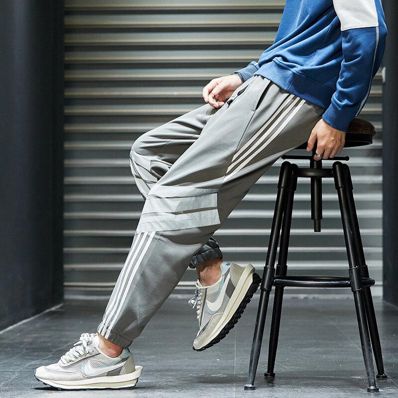 K8012020秋季长裤韩版潮流工装裤新款百搭裤子休闲宽松九分裤