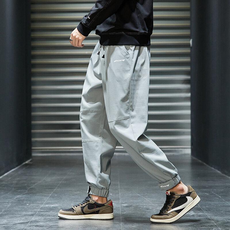 K8022020秋季长裤韩版潮流工装裤新款百搭裤子休闲宽松九分裤