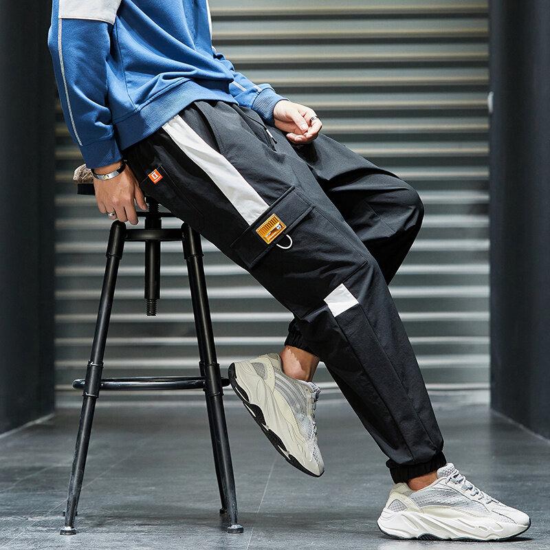 K822工装裤男秋季休闲裤宽松直筒裤潮流韩版学生长裤子青少年百搭裤子