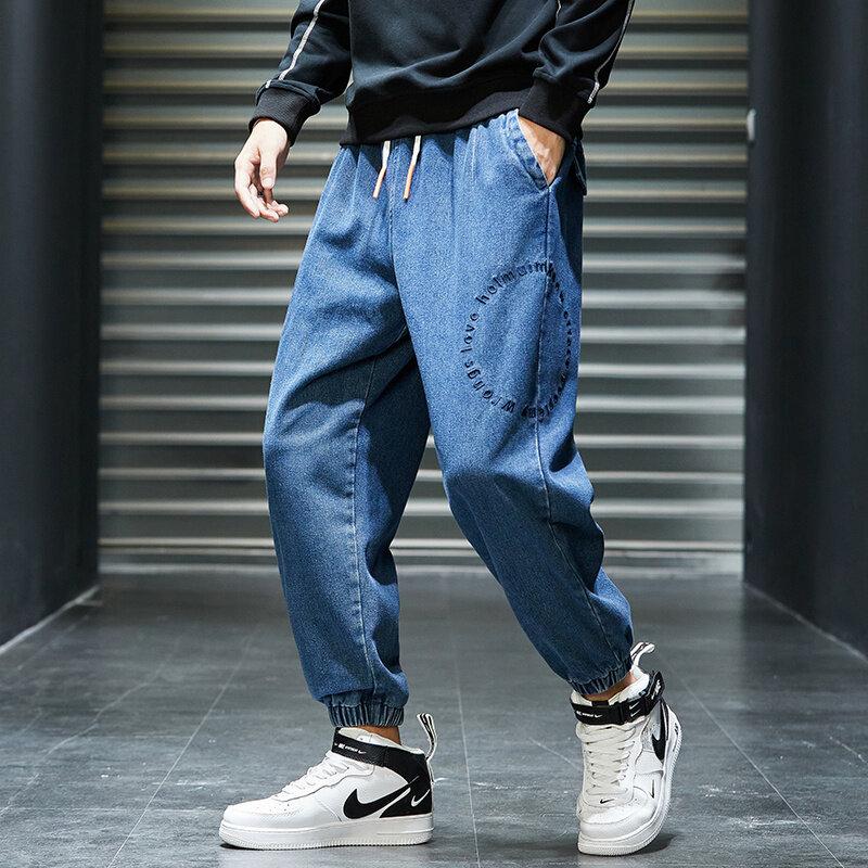 K8262020休闲裤男秋季新款裤子男装韩版潮流男裤哈伦裤工装裤男