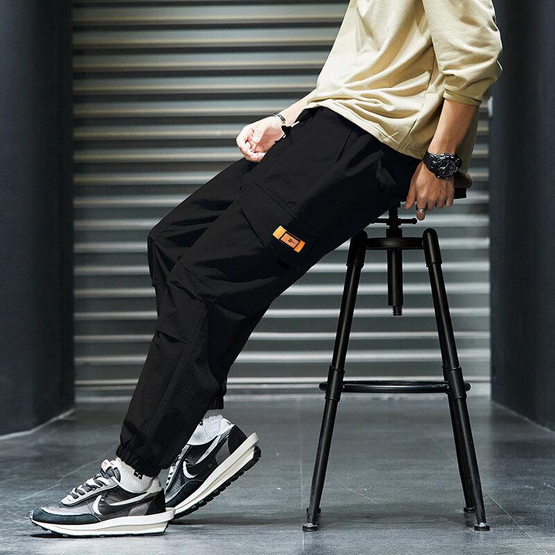K7972020秋季长裤韩版潮流工装裤新款百搭裤子休闲宽松九分裤
