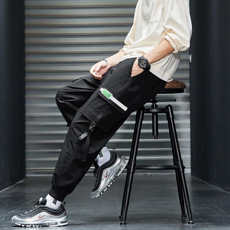 K820男士裤子秋季束脚宽松工装裤男穿搭潮牌超火百搭休闲长裤