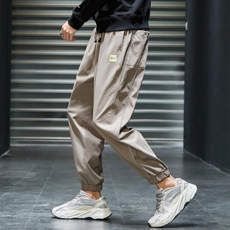K827工装裤男秋季休闲裤宽松直筒裤潮流韩版学生长裤子青少年百搭裤子