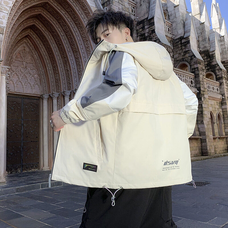 20922020新款秋装男士夹克秋季连帽外套上衣春秋潮流男装韩版男款