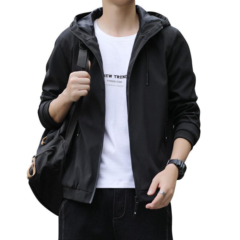 1943新款春季秋季男士夹克外套上衣帽衫休闲时尚青年潮流大码男装