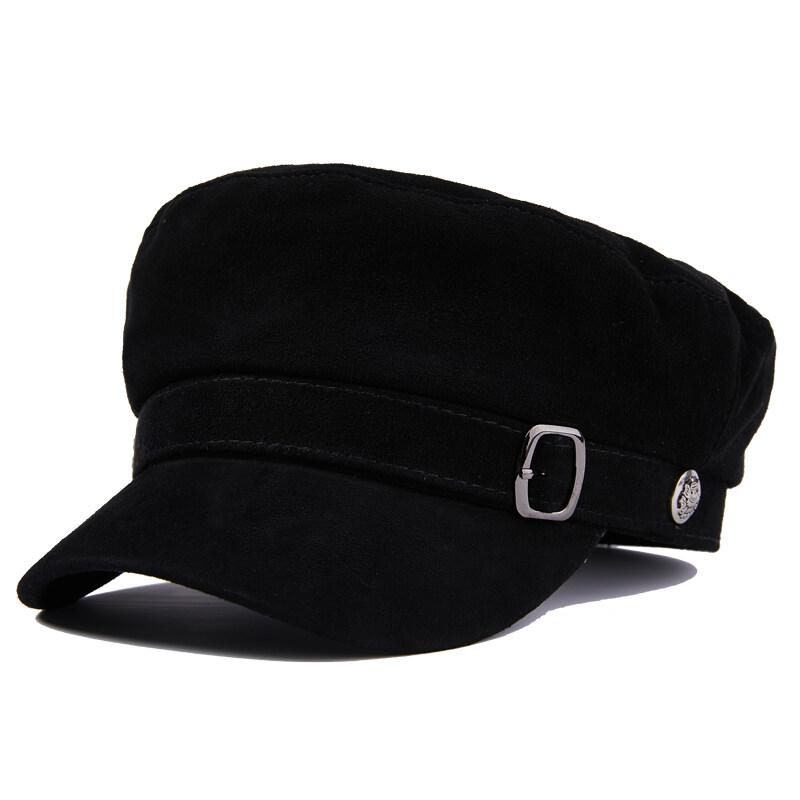 Y713休闲真皮帽子女士青年中老年冬季羊皮保暖厚时尚帽户外P72