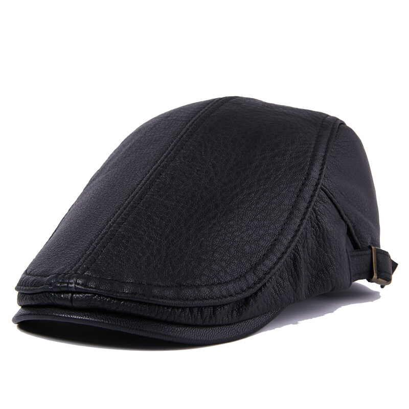 Y711休闲真皮帽子女士青年中老年冬季羊皮保暖厚时尚帽户外P66
