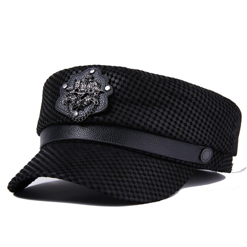 Y710休闲真皮帽子女士青年中老年冬季羊皮保暖时尚帽户外P72