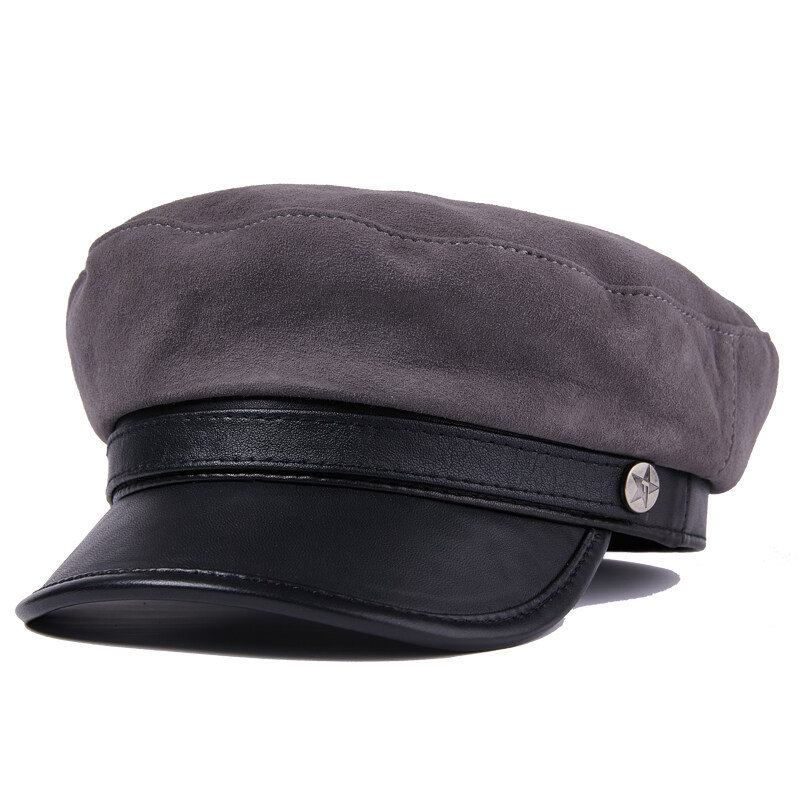Y709休闲真皮帽子女士青年中老年冬季羊皮保暖厚时尚帽户外P72