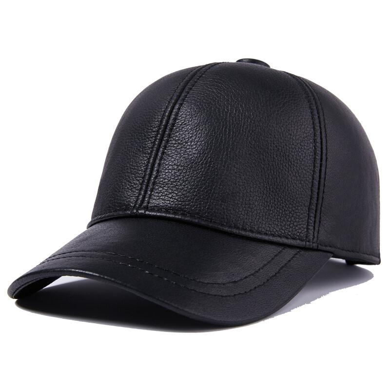 Y704休闲真皮帽子男士中老年冬季羊皮保暖厚老人帽户外P55