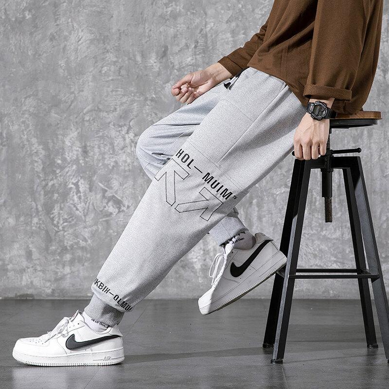K787工装裤男2020春季裤子男装潮流男裤哈伦裤休闲裤男士束脚裤