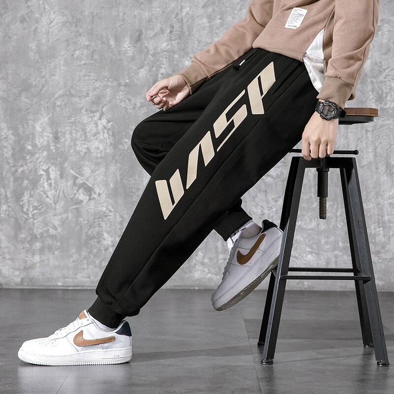 K785男士2020秋季长裤韩版潮流工装裤新款百搭裤子休闲宽松九分裤