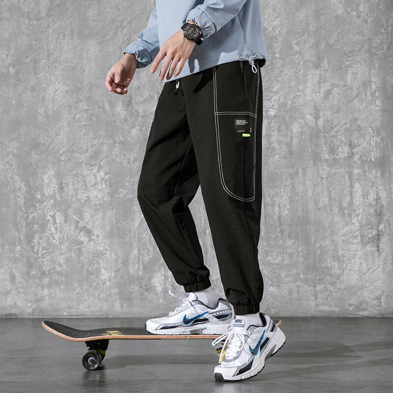 K-8032020年秋季新款男士水洗休闲裤宽松小脚中腰长裤男小脚裤
