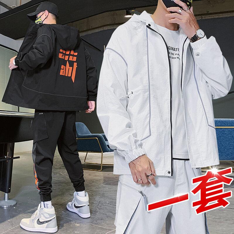 307外套男春秋机能薄夹克韩版潮流棒球衣服2020新款春季防晒运动