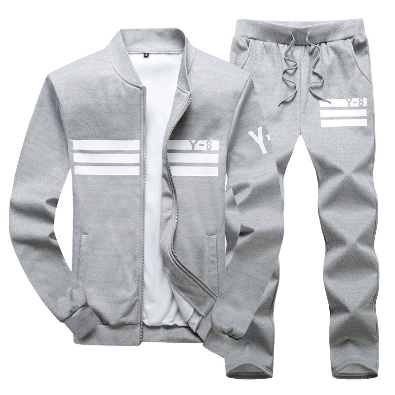 Y8运动休闲套装时尚潮男两件套 跨境直供