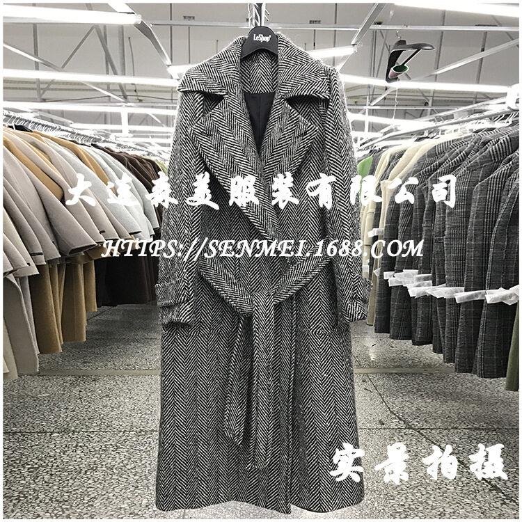 韩版显瘦零羊绒羊毛双面呢子大衣2017新款双面绒毛呢
