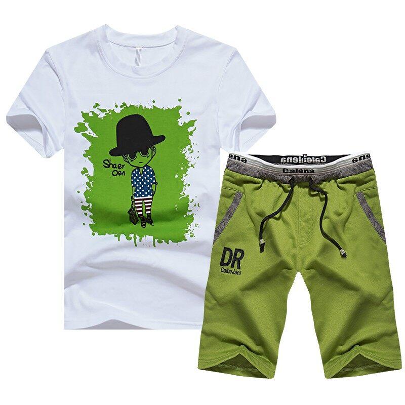 DR23DR23圆领短袖T恤青少年两件套装男